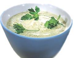 Крем-суп из курицы со щавелем
