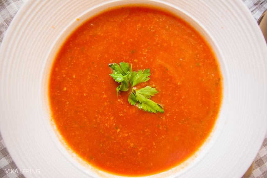 Рецепт супа из картофеля, фасоли и томатов